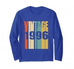 Retro Vintage 1996 Long Sleeves 21st Birthday Gift Shirt