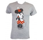 Disney Sweet Shy Minnie Mouse Adult Mens T-shirt