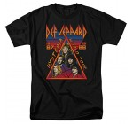 Def Leppard World Tour 1987 1988 Vintage Style Adult Men's Tee Music Rock T-Shirt
