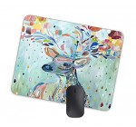 Artistic Psychedelic Deer Animal Mouse Pad Watercolor Illustration Animal Mouse Pad