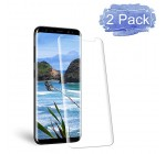 Galaxy S8 Screen Protector, Auideas [Error Proof Bubble Free][9H Hardness] [HD - Clear] Tempered Glass Film Screen Protector for Samsung Galaxy S8 [2 Pack]