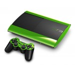 Sony PlayStation 3 Super Slim Skin (3rd Gen) – NEW – LIME CHROME MIRROR system skins faceplate decal mod