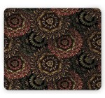 Psychedelic Mouse Pad by Lunarable, Dark Eastern Mandala Patterns Large Flowers Retro Bohemian Fantasy Garden Theme, Standard Size Rectangle Non-Slip Rubber Mousepad, Multicolor