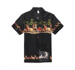 Palm Wave Men's Hawaiian Shirt Aloha Shirt Luau Shirt