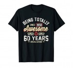60th Birthday Gift Vintage 1958 T-Shirt Men Women