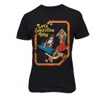 RIVEBELLA New Novelty Graphic Tee Funny Morbid 80′s Vintage Mens T-Shirt