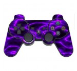Pink Purple Lightning Storm Electric PS3 Dual Shock wireless controller Vinyl Decal Sticker Skin by Moonlight Printing