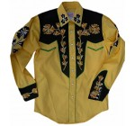 Rockmount Mens Vintage Style Western Two Tone Embroidered Snap Shirt