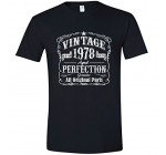 Feisty and Fabulous Birthday Gifts for Men, 40th Birthday T-Shirt, Tee, Made in 1978, Vintage