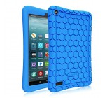 Fintie Silicone Case for All-New Amazon Fire 7 Tablet (7th Generation, 2017 Release) – [Honey Comb Upgraded Version] [Kids Friendly] Light Weight [Anti Slip] Shock Proof Protective Cover, Blue Reviews