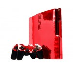 Sony PlayStation 3 Slim Skin (PS3 Slim) – NEW – RED CHROME MIRROR system skins faceplate decal mod