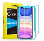 SPARIN Screen Protector iPhone 11 / iPhone XR, [4 Pack] Tempered Glass Screen Protector [Alignment Frame] [Easy Installation] iPhone 11 2019 / iPhone XR 6.1 Inch Reviews