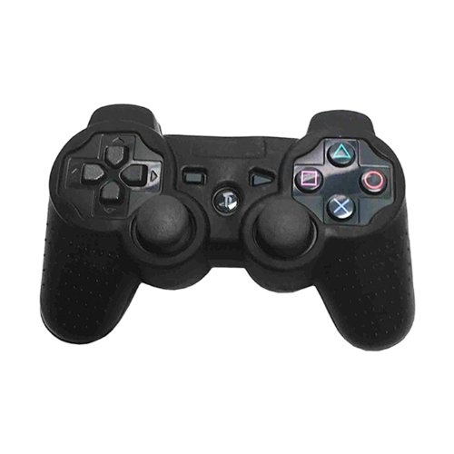 HDE Silicone Skin for Sony PS3 Controller Rubberized Grip Cover Case for Playstation 3 Dualshock Wireless Game Controllers (Black)