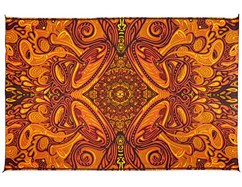 Sunshine Joy Honey Hive Psych Art Tapestry Hippie Wall Hanging Huge 60×90 Inches