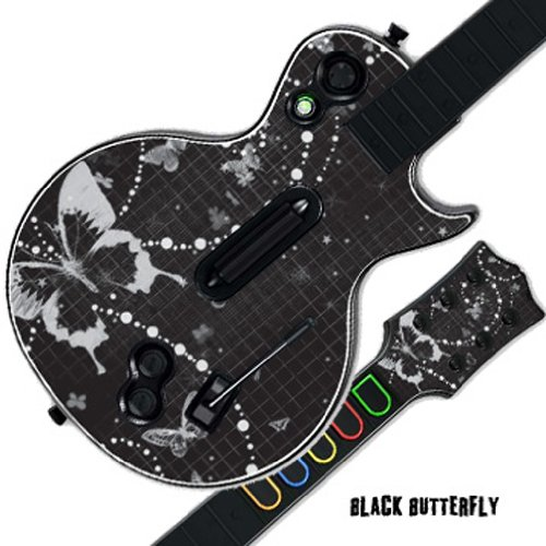 MightySkins Skin For GUITAR HERO GUITAR HERO – Black Butterfly | Protective, Durable, and Unique Vinyl Decal wrap cover | Easy To Apply, Remove, and Change Styles | Made in the USA
