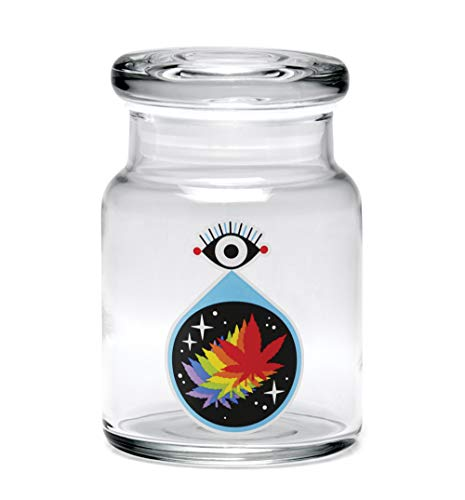 420 Science All-Seeing Leaf Pop Top Jar – Assorted Sizes (Small)