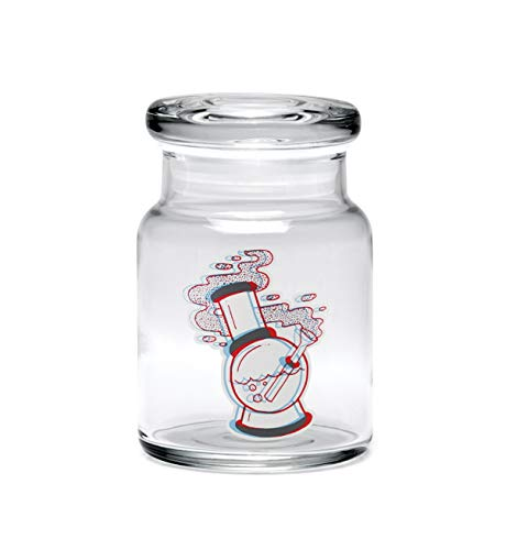 420 Science 3D Water Pipe Pop Top Jar – Assorted Sizes (Small (3.75″))