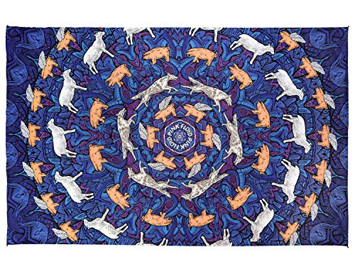 Sunshine Joy 3D Pink Floyd Animals Tapestry Psychedelic Wall Art Huge 60×90 Inches Reviews